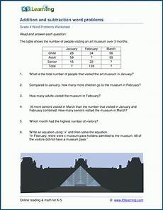 addition word problem worksheets grade 4 11310 mixed addition and subtraction word problems for grade 4 k5 learning