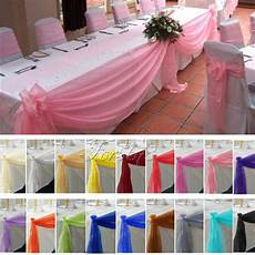 5m 1 35m top table swags organza fabric diy wedding party bow decorations ebay