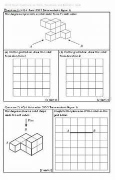 plans and elevations isometric drawing grade 6 math math sheets