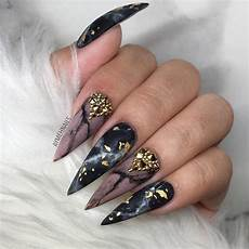 perfect ideas of black and gold nail designs