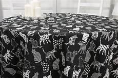 tischdecken de tischdecke schwarz cats hellgrau ab 80 cm bis 200 cm rund