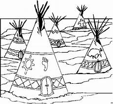 Indianer Tipi Malvorlage Viele Tipis Ausmalbild Malvorlage Comics