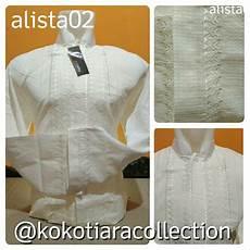 jual baju koko putih polos bordir bandung pasar baru first murah grosir dan eceran di lapak