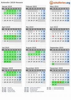 Hessen Schulferien 2019 - kalender 2019 ferien hessen feiertage