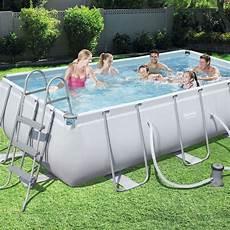 detachable rectangular tubular pool bestway power steel
