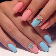 two colors nail design nails design with rhinestones