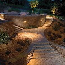 retaining wall lighting căutare google garden stairs landscaping retaining walls sloped garden