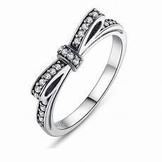 925 sterling sliver pandora ring bowknot pandora rings aaa