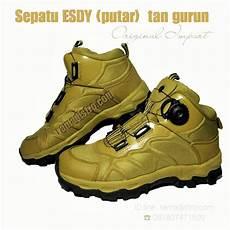 jual sepatu esdy putar impor warna hitam gurun dan od green jual aneka barang perlengkapan