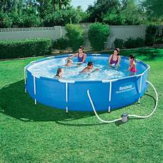 Frame Pool Rund - bestway frame pool quot steel pro quot set rund 366 x 76 real