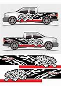 Angry Roaring Tribal Tiger Graphics Decal Designs For