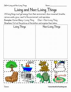 living and non living things worksheets have fun teaching