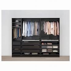 Pax Wardrobe Black Brown Hamn 229 S Black Blue Ikea