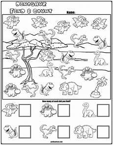 free printable dinosaur worksheets for kindergarten 15391 find count dinosaur characters dinosaurs preschool kindergarten math worksheets