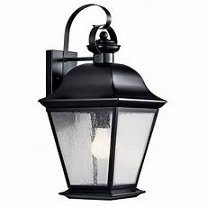 kichler 9709bk 1 light wall light 150 watt 120 volt black vernon decorative landscape