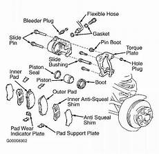 repair anti lock braking 2001 toyota tacoma spare parts catalogs note pushing piston into caliper bore will force fluid back into master cylinder reservoir