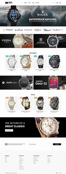 novawatch watches store responsive magento theme