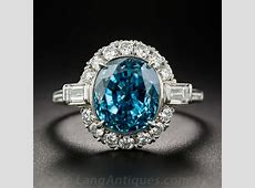 Vintage Zircon and Diamond Ring in Platinum   Antique