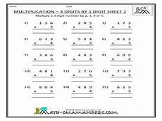 single digit multiplication math worksheet 2 by 1 digit multiplication worksheets worksheet mogenk