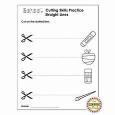 cutting practice scissor skills worksheets back to school september theme