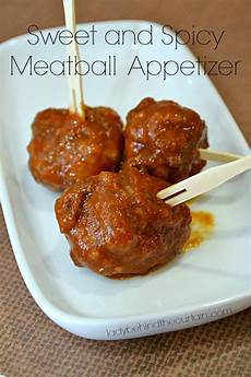 sweet and spicy meatball appetizer