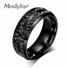 modyle 2017 new fashion men rings black crystyal rings
