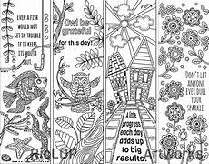 8 coloring bookmarks with quotes coloring bookmarks