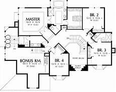 elegant home plan for sloped site 6890am 2nd floor master suite bonus room butler walk in
