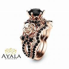 real black diamond wedding ring black diamond gold engagement ring unique natural