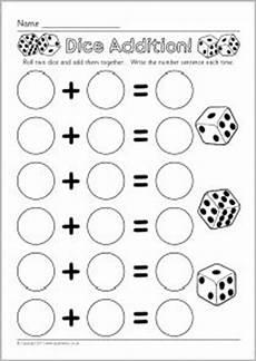 money worksheets sparklebox 2329 4 dice addition worksheets sparklebox free printables resources pre kinder 1st reading