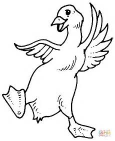 goose coloring page free printable coloring pages