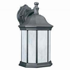 philips hawthorne 1 light black outdoor wall lantern pl94627 the home depot