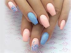 blue and pink you ll like baby blue nail ideas you