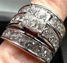 engagement wedding ring jewelers 14k clear diamond size 7 ebay