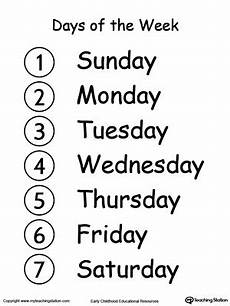 learn the days of the week myteachingstation com