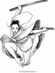 disegno samurai 5 categoria nazioni da colorare