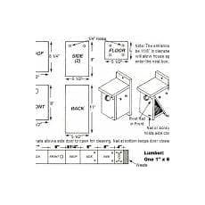 chickadee bird house plans best of chickadee bird house plans new home plans design