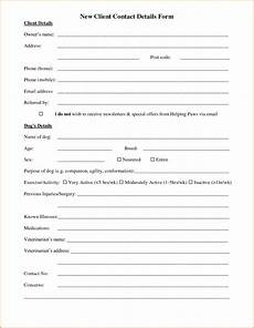 10 client information sheet template authorizationletters org