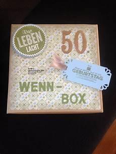 Geldgeschenke 50 Geburtstag - wenn box zum 50 geburtstag stempel inspiration jung