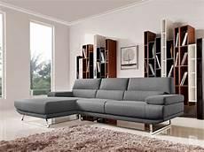 divani shop divani casa modern grey fabric sectional sofa