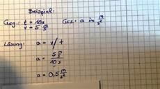 beschleunigung ausrechnen physik leicht gemacht