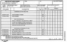 section ii receipt tm 10 8110 201 10 hr 9