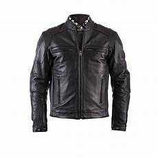blouson moto vintage helstons trust cuir plain noir