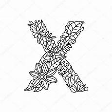 Malvorlagen Xl Xda Letter X Coloring Book For Adults Vector Stock Vector