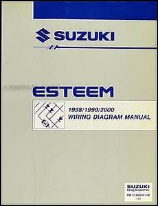 1998 suzuki esteem wiring diagrams 1998 2000 suzuki esteem wiring diagram manual original
