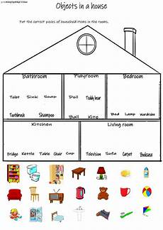 places in the house worksheets 15999 objects in a house interactive worksheet