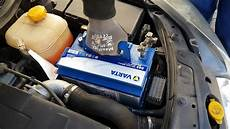 opel astra h neue starterbatterie einbauen varta e43 blue