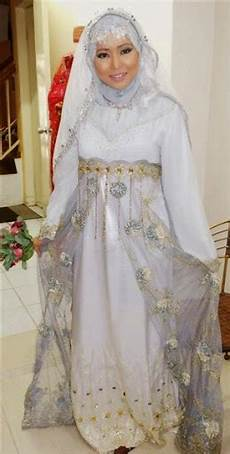 contoh baju gaun pengantin muslim islami syar i terbaru
