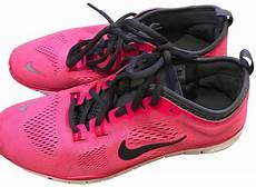 nike neon pink with gray accents free 5 0 sneakers size us