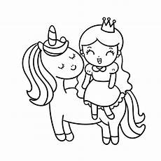 the cutest free unicorn coloring pages